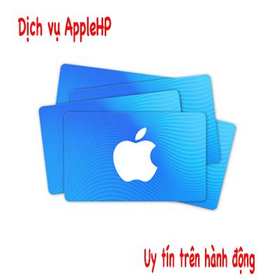 Bảng danh sách các dịch vụ AppleHP