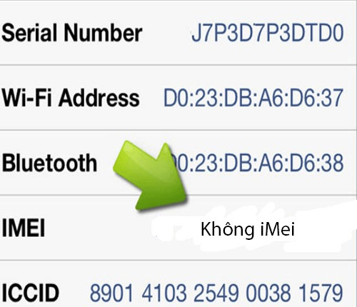 iPhone 6 mất iMei
