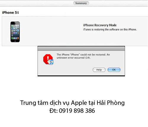 Lỗi 14 khi Restore iPhone 5S