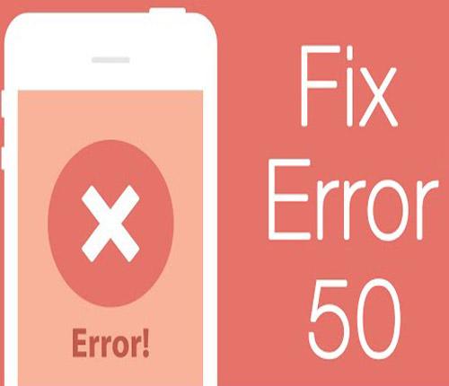 Lỗi 50 restore iphone 6