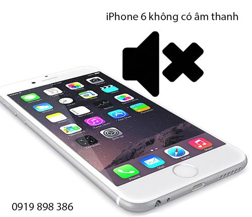 iPhone 6 không có âm thanh